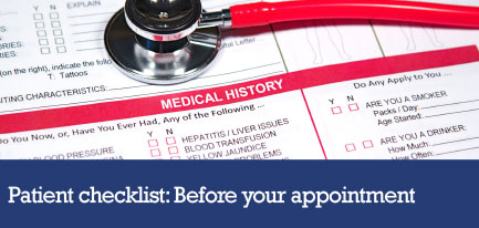 Patient checklist: Before your appointment